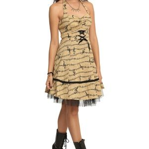 Hot Topic Music Note Dress Size Large
